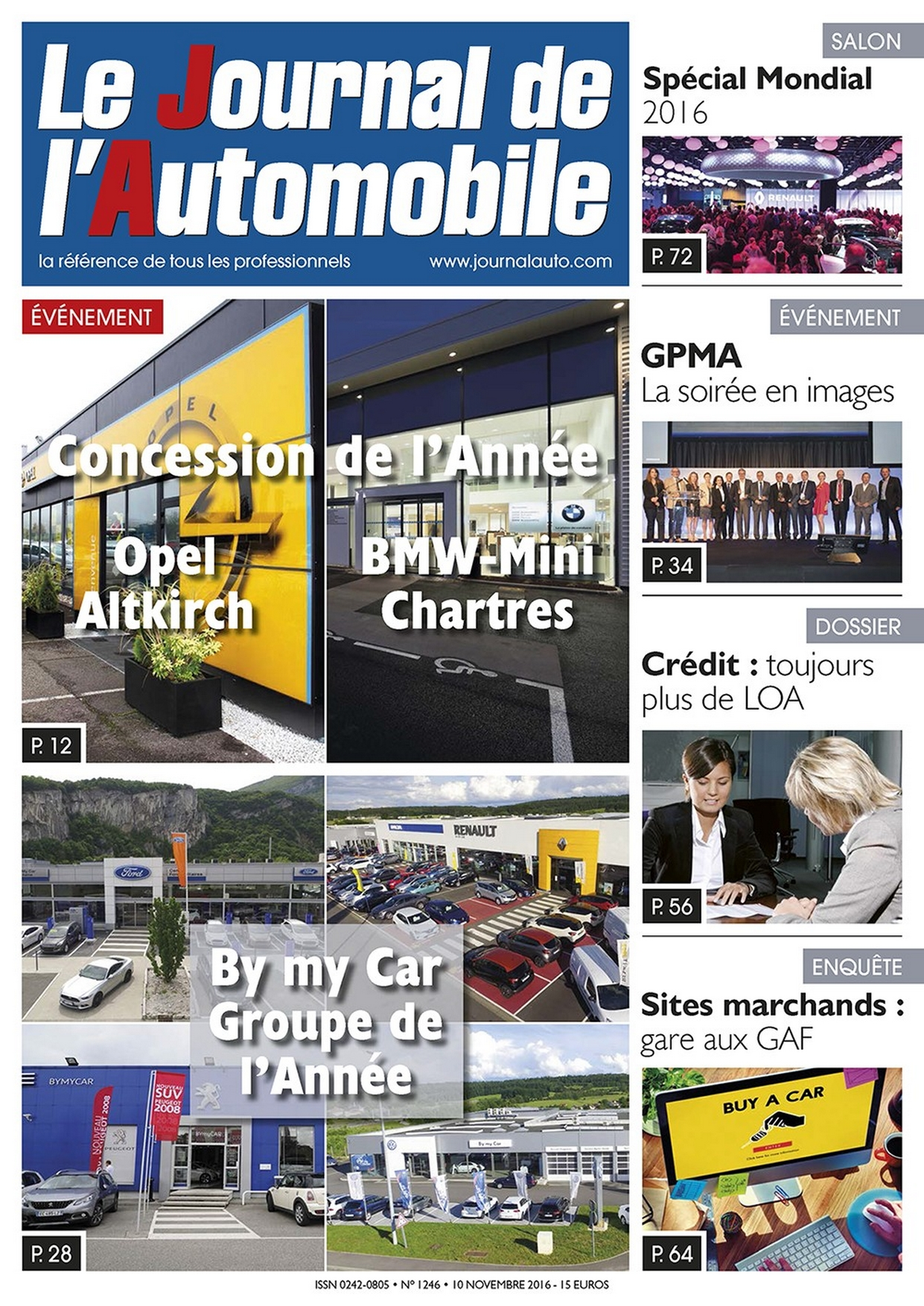 Le Journal de l'Automobile n°1246 ?>