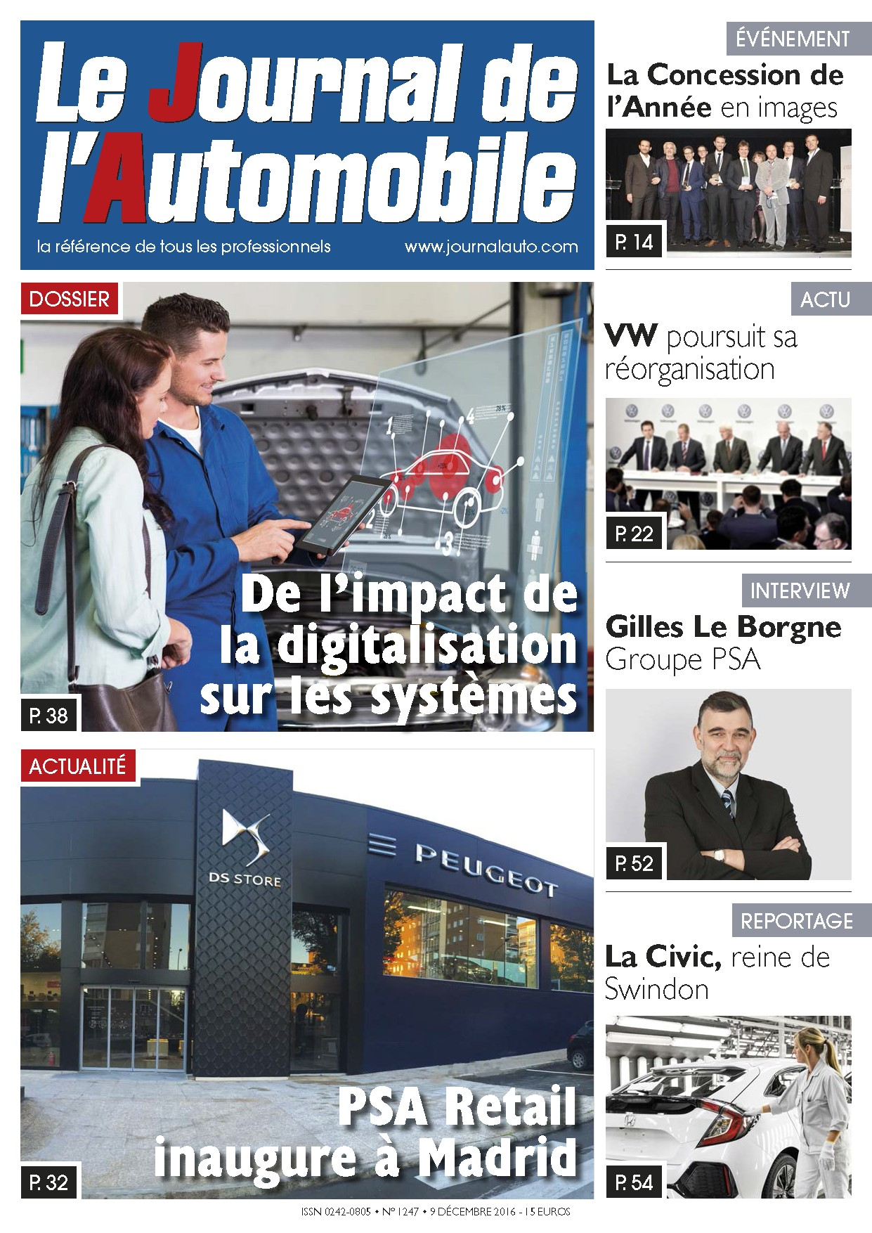 Le Journal de l'Automobile n°1247 ?>