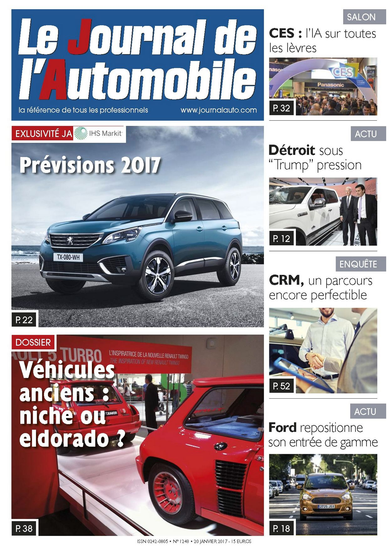 Le Journal de l'Automobile n°1248 ?>
